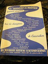 Partition La Chanson du Routier Tony Muréna 1963 Music Sheet