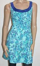 VALLEYGIRL Designer Blue Floral Sleeveless Day Dress Size 10 BNWT #sa01