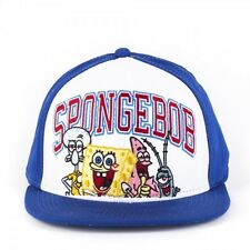 SPONGEBOB SQUAREPANTS, PATRICK, SQUIDWARD BLUE AND WHITE SNAPBACK CAP *NEW*