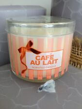 BATH & AND BODY WORKS CAFE AU LAIT 1.3 OZ MINI SCENTED JAR CANDLE HOLIDAY NEW