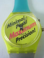 GJ900 New Swatch - 1997 Promo Loomi Fluorescent Authentic Swiss Made