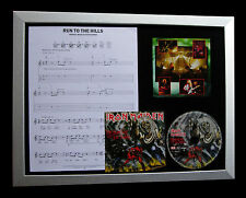 IRON MAIDEN Run To The Hills QUALITY CD LTD FRAMED DISPLAY+EXPRESS GLOBAL SHIP