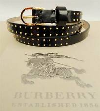 Burberry Studded Black Leather belt SZ95- BOXED Perfect Gift