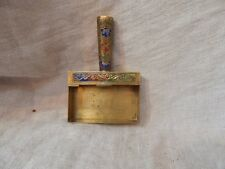 Vintage Brass Ash Collector / Crumb Catcher with Floral Design 3.5""