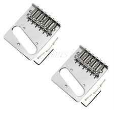 2pcs Bridges for Telecaster Electric Guitar Assembly Replacement Chrome