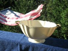 LENOX  SERVING DISH BOWL WITH HANDLES IVORY COLOR GOLD TRIM CHINA SCALLOPED
