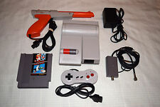 Nintendo NES TOP LOADER Video Game System + SUPER MARIO BROS DUCK HUNT + ZAPPER