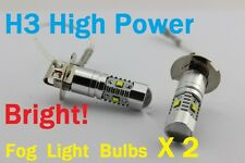 H3 6000K CREE LED Fog Light Bulbs 12 Month Warranty Xenon HID X2