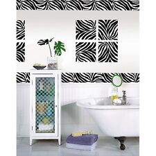 ZEBRA PRINT 16' Removable Sticker Wall Border Stripe Animal Wallpaper Room Decor