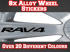 8x Toyota RAV4 Vinyl Stickers Decals for Alloy Wheels, Door Handles, Mirrors