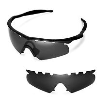 New WL Polarized Black Vented Replacement Lenses for Oakley M Frame Hybrid