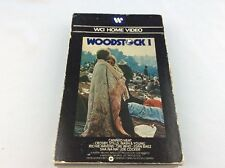 WOODSTOCK 1 VHS BIG BOX FIRST RELEASE WCI HOME VIDEO VERY RARE 1979
