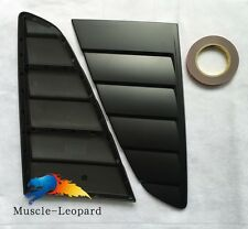 2015 2016 Mustang Cervini Style Window Louvers Matte Black Painted