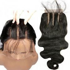 3 Part Lace Closure 4x4 Body Wave Human Hair Closure Piece with Baby Hair