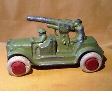 Antique 1930s Lead Toy Military GREEN Gunner Army Car Manoil Barclay