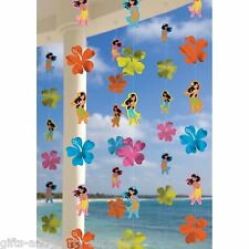 Hula Girl String Decorations ~ Luau Summer Spring Hawaiian Party Supplies ~ 6ct