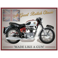 Large Enfield Sports Vintage Metal Tin Sign Poster Bar Garage Wall Decor 40x30cm