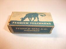 a Kaufmannsladen Schaugericht Pappschachtel Verpackung Feurich Milchkeks um 1930