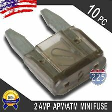 10 Pack 2A Mini Blade Style Fuses APM/ATM 32V Short Circuit Protection Car Fuse