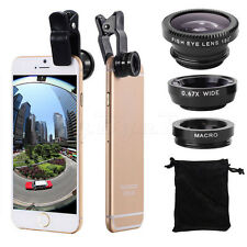 3in1 Universal Clip-On Camera Lens (Fish Eye/Wide Angle/Macro) for Cell Phones