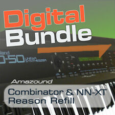 ROLAND D50 + YAMAHA DX7II REASON REFILL BUNDLE 128 NNXT + 64 COMBINATOR  PATCHES