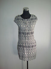 white boho cassual short dress
