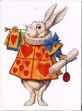 POST CARD OF A PAINTING FROM A SCENE IN ALICE IN WONDERLAND, FAMOUS CLASSIC BOOK