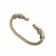Antique Gold Plated Viking Dragon Bracelet Men Bangles Women Norse Jewelry