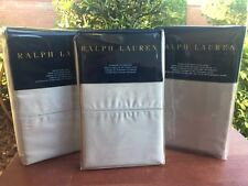 Ralph Lauren RL 624 SOLID SATEEN 'Vintage' Queen Sheet Set NEW