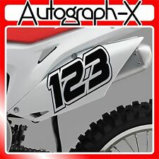 3x ACU CUSTOM RACE NUMBERS Stickers Decals Bike Motocross Trials MX Dirt bike 06