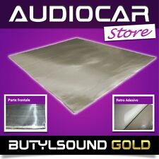 ButylSound GOLD FOGLIO 50cm X 50cm INSONORIZZANTE ANTIVIBRANTE AUTO ADESIVO