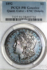 Up for Sale One 1892 PCGS Graded Morgan Silver Dollar Genuine Proof Unc Details