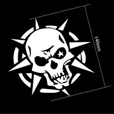 White Car SUV Window/Door/Bumper Storm Skull Ghost Decal Graphics Sticker