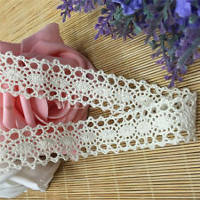 3yd Vintage Ivory Cream Lace Bridal Wedding Trim Ribbon Craft Cotton Crochet DIY