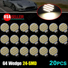 20X 4000K Warm White G4 24 SMD Car Auto Marine Home Marine LED Light Bulb 12V DC