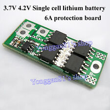 Single Cell 6A 3.7V 4.2V Li-ion Lithium 18650 14450 Battery Protection PCB 1S