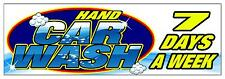 HAND CAR WASH 7 DAYS  PVC OUTDOOR BANNER GARAGE WORKSHOP 2FT X 6FT