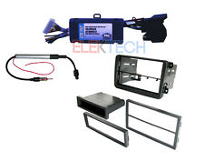 Radio Replacement Interface with Double Din Dash Installation Kit for Volkswagen