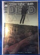 THE WALKING DEAD #100 CHROMIUM WRAPAROUND VARIANT SIGNED BY CHARLIE ADLARD