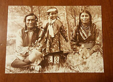 Blackfoot Indian Family Canada 1907 Historical Photo Postcard
