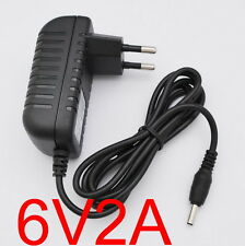 AC Converter Adapter DC 6V 2A Power Supply Charger EU plug 3.5mm x 1.35mm 2000mA