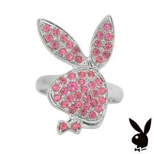 Playboy Ring Bunny Pink Crystal Adjustable Size 5.5 - 9 Playmate GRADUATION GIFT