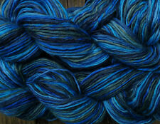 Pure wool yarn worsted weight, blue, green and turquoise, 2 large skeins