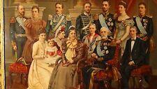 ANTIQUE 19c VICTORIAN ORIGINAL LITHOGRAPH  OF ROYAL NOBLE FAMILY PORTRAIT