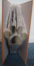 Folded Book Art Paw Dog Pawprint Handmade Upcycled Book Sculpture