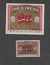 Ancienne   étiquette   allumette Belgique  CC28 The Circus 2 Cheval