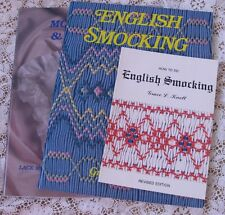~ NEW AND OOP GRACE KNOTT ENGLISH SMOCKING HEIRLOOM SEWING 3 BOOK LOT  2 OOP ~