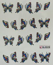 Accessoire ongles: nail art - Stickers autocollants -motifs papillon multicolore