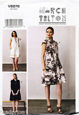 VOGUE SEWING PATTERN 8876 MISSES 8-16 LOOSE-FITTING MARCY TILTON DRESS W/ COLLAR