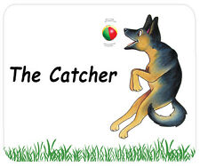 Cartoon German Shepherd Dog Mouse Mat - The Catcher.